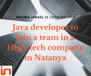 NGIMA ISRAEL is looking for a Senior JAVA Developer